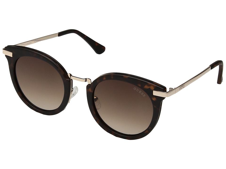 GUESS - GF6041 (Matte Havana/Gradient Brown Lens) Fashion Sunglasses