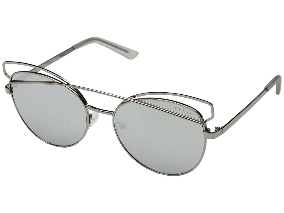 GUESS - GF6040 (Gunmetal/Smoke Mirror Lens) Fashion Sunglasses