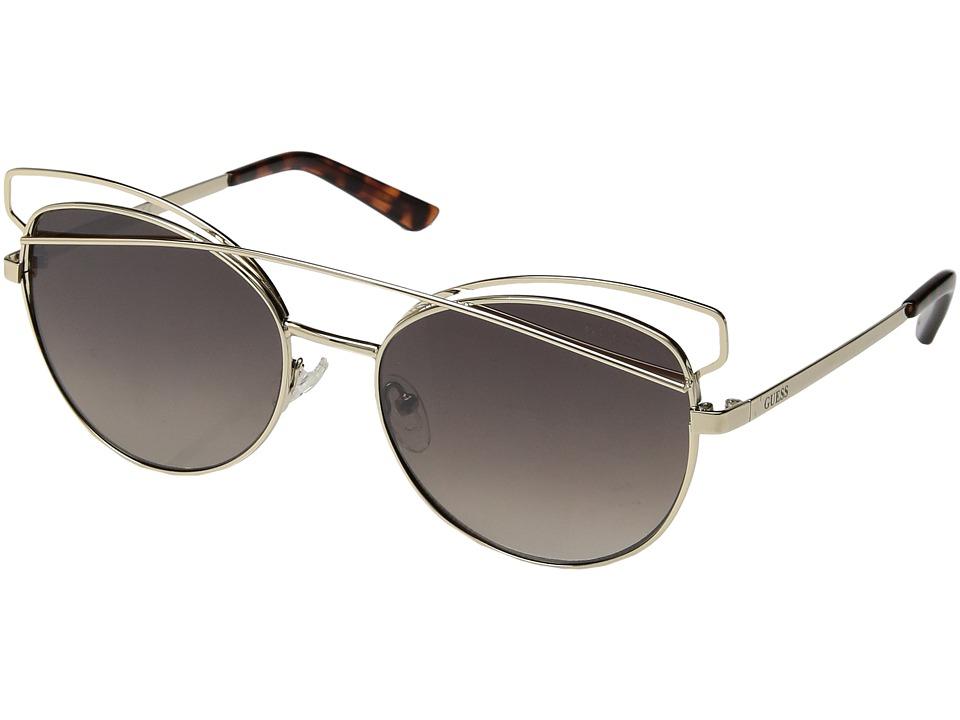 GUESS - GF6040 (Gold/Gradient Brown Flash Lens) Fashion Sunglasses