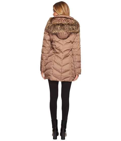 Kenneth Cole New York Chevron Quilted Coat with Fur Hood at 6pm : kenneth cole chevron quilted coat - Adamdwight.com