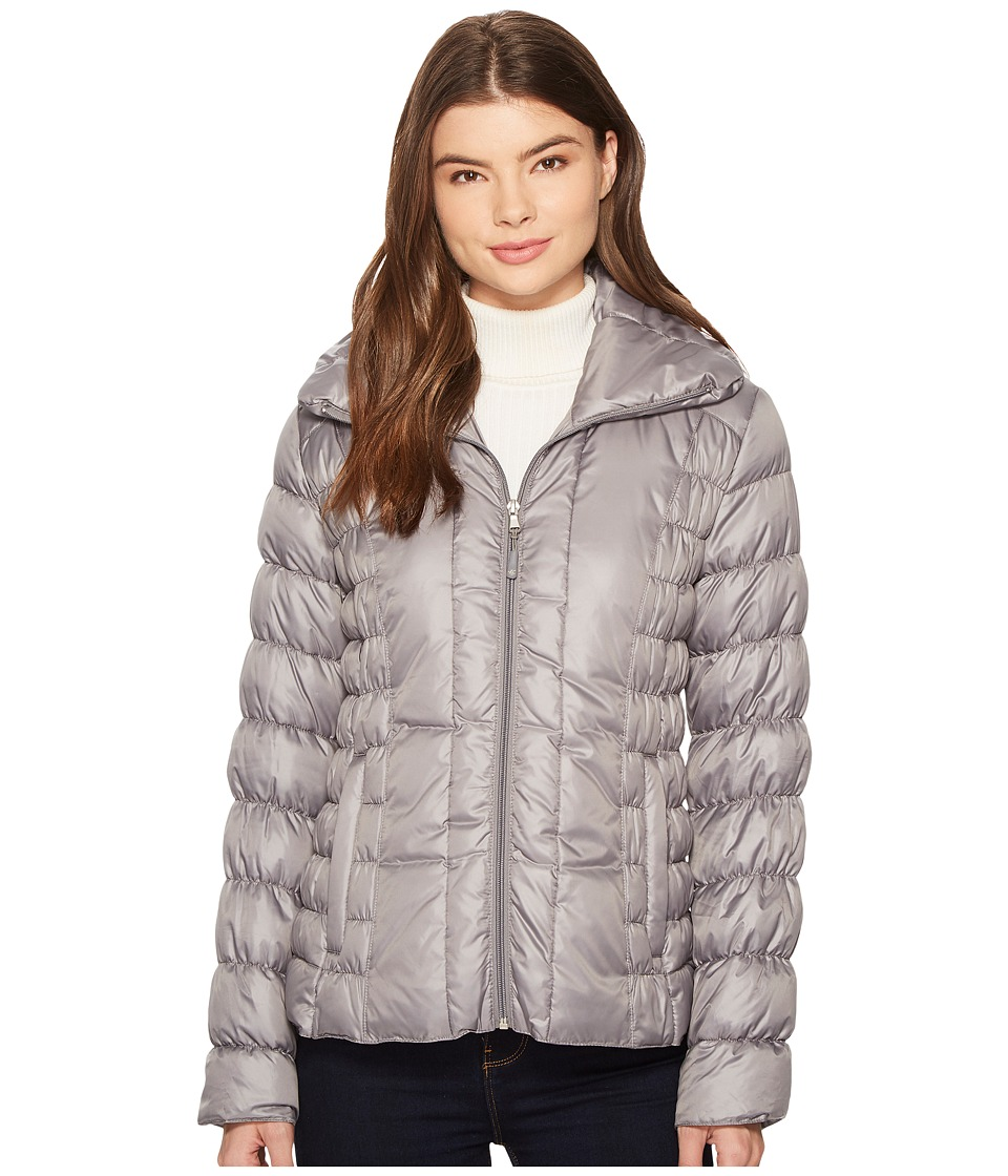 Kenneth Cole New York - Multi Quilt Packable (Nickel) Women's Coat