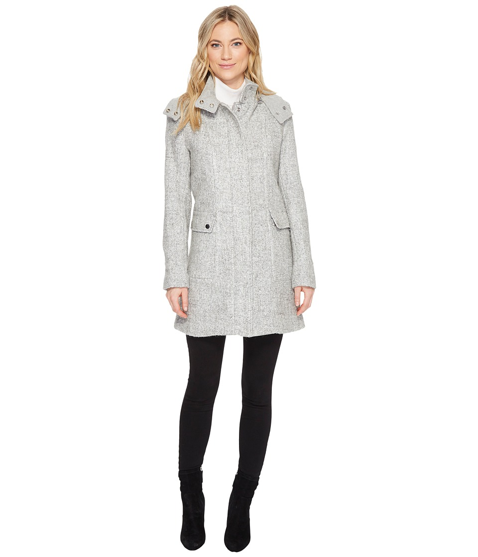 Kenneth Cole New York - Wool Asymmetrical (Grey) Women's Coat