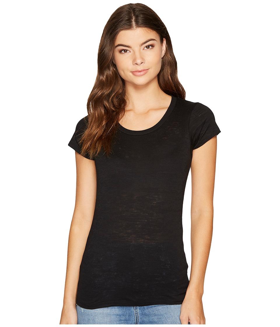 Alternative - Perfect Fit Burnout Crew (True Black) Women's Clothing
