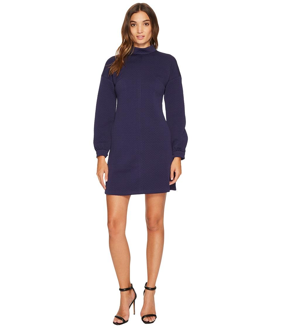 Donna Morgan Long Sleeve Mock Neck A-Line Dress