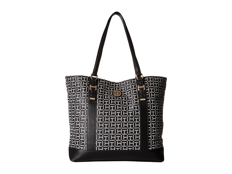 Tommy Hilfiger - Gillian Tote (Black/White) Tote Handbags