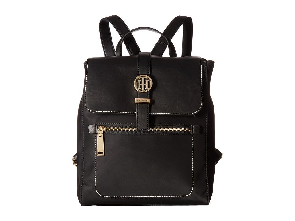 Tommy Hilfiger Evanna Backpack (Black) Backpack Bags