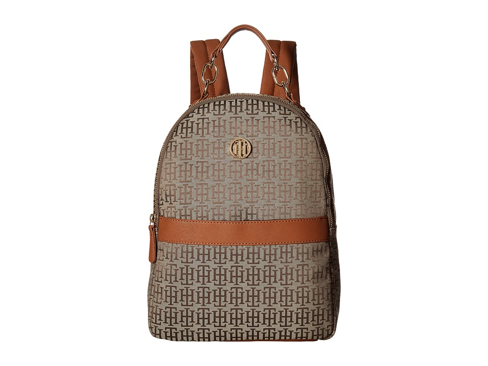 Tommy Hilfiger Evaline Backpack (Tan/Dark Chocolate) Backpack Bags