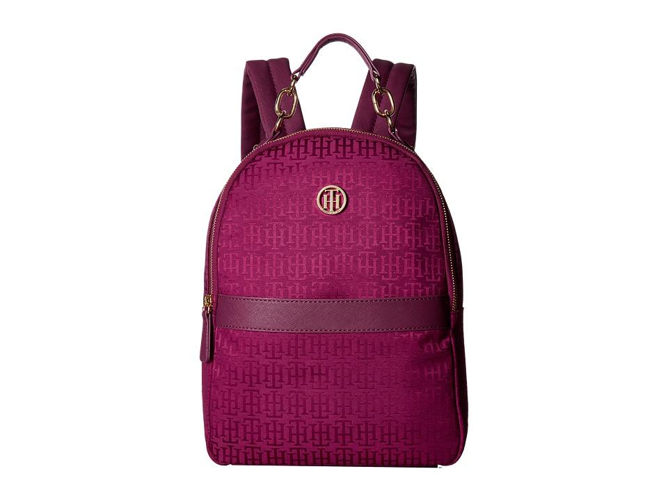 Tommy Hilfiger Evaline Backpack (Merlot Tonal) Backpack Bags