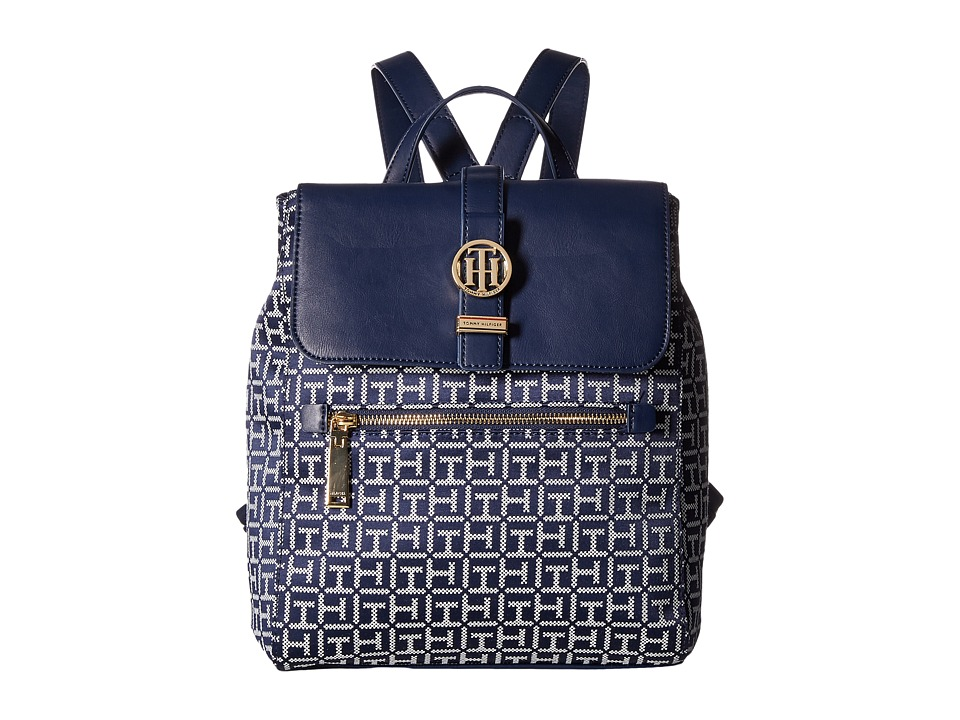 Tommy Hilfiger Evanna Backpack (Navy/White) Backpack Bags