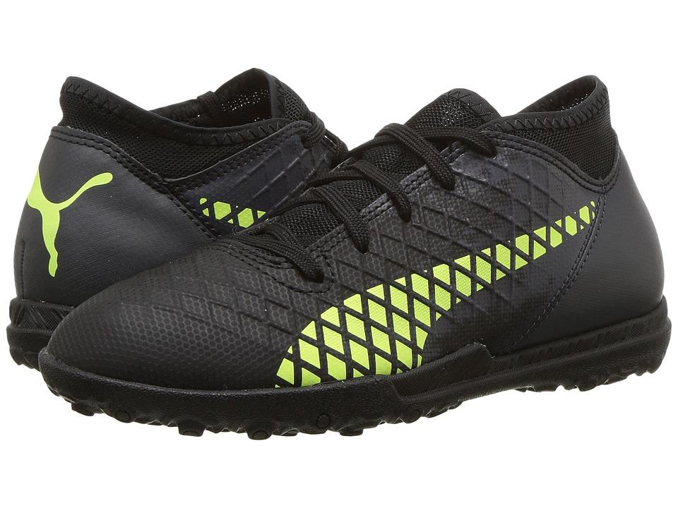 Puma Kids Future 18.4 TT Soccer (Little Kid/Big Kid) (Puma Black/Fizzy Yellow/Asphalt) Kids Shoes