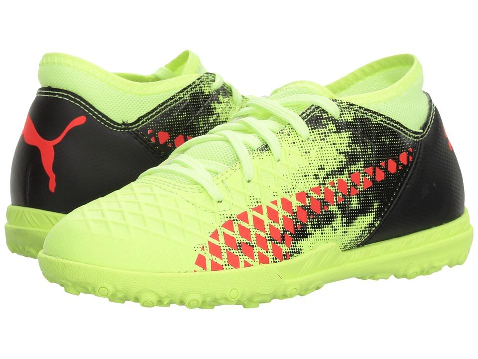 Puma Kids Future 18.4 TT Soccer (Little Kid/Big Kid) (Fizzy Yellow/Red Blast/Puma Black) Kids Shoes