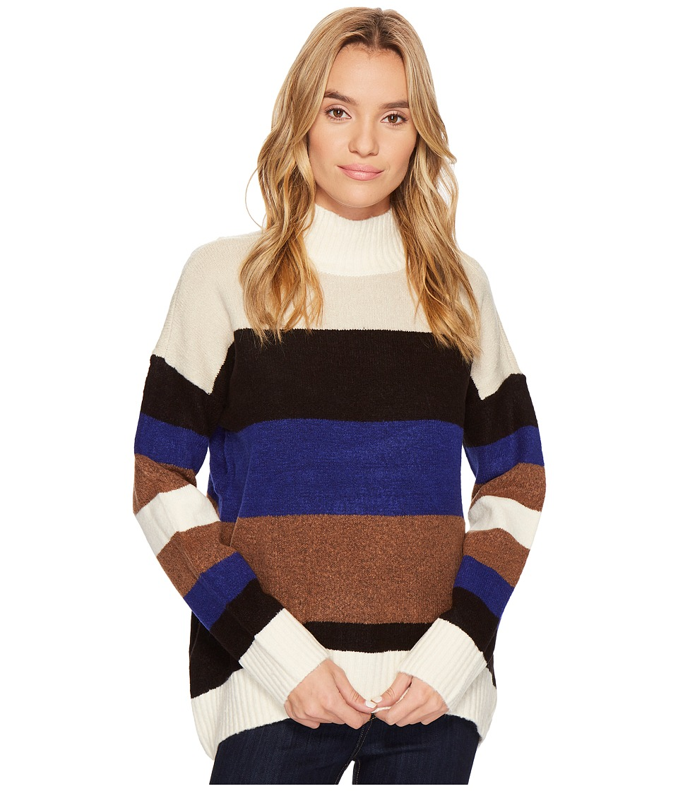 ROMEO & JULIET COUTURE - Striped Turtleneck Sweater (Multi) Women's Clothing