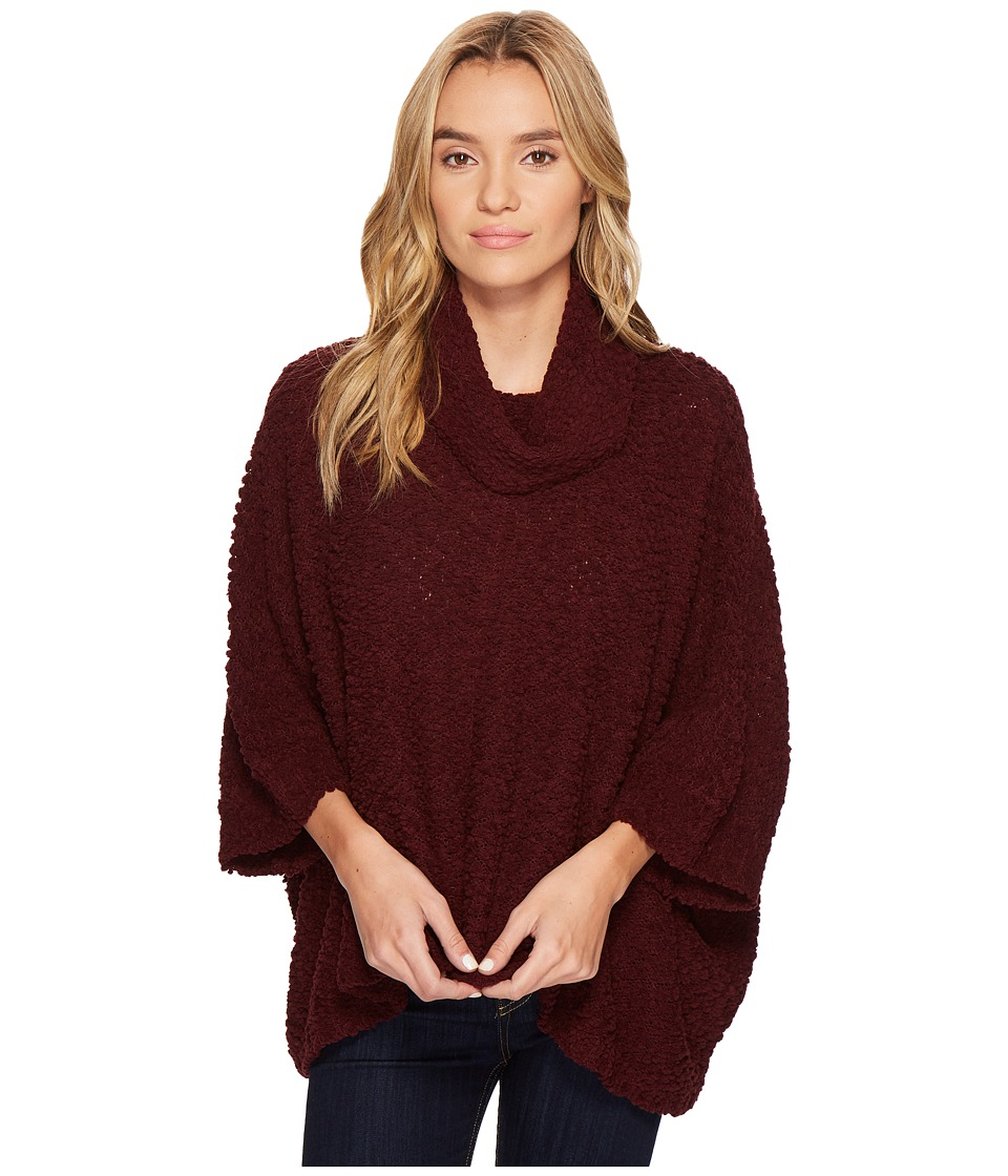 ROMEO & JULIET COUTURE - Drape Neck Knit Sweater Top (Wine) Women's Clothing
