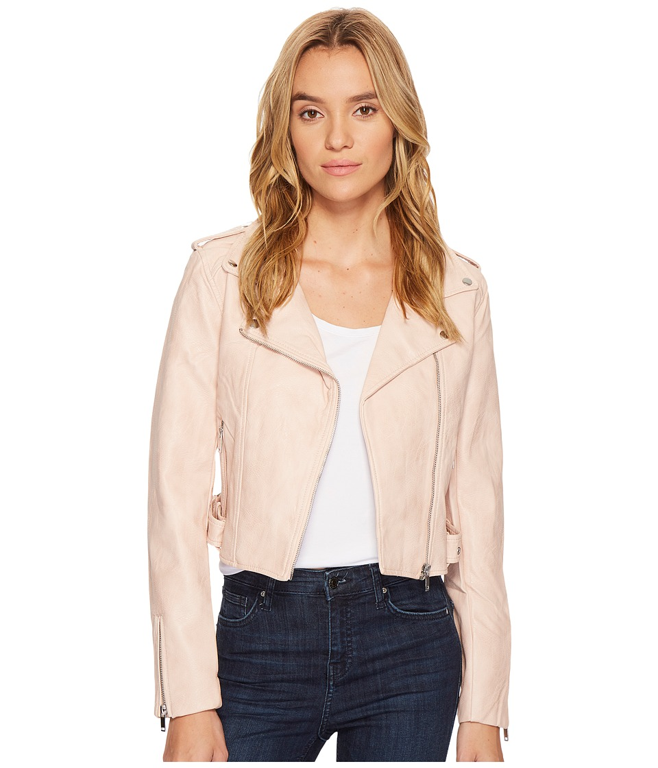 ROMEO & JULIET COUTURE - PU Biker Jacket (Blush) Women's Clothing