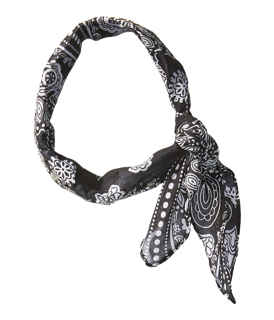 BCBGeneration - Bandana Rolled Neckie (Black) Scarves