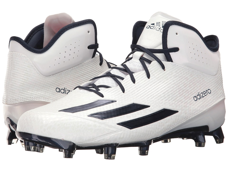adidas - Adizero 5-Star Mid (White/Collegiate Navy/Collegiate Navy) Men's Shoes