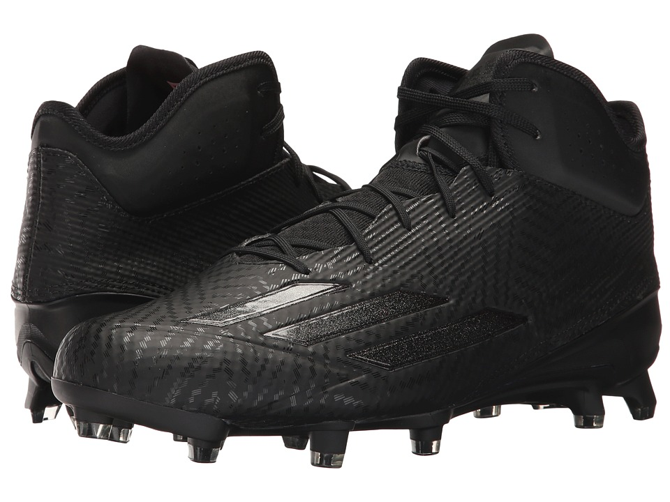 adidas - Adizero 5-Star Mid (Black/Black/Black) Men's Shoes