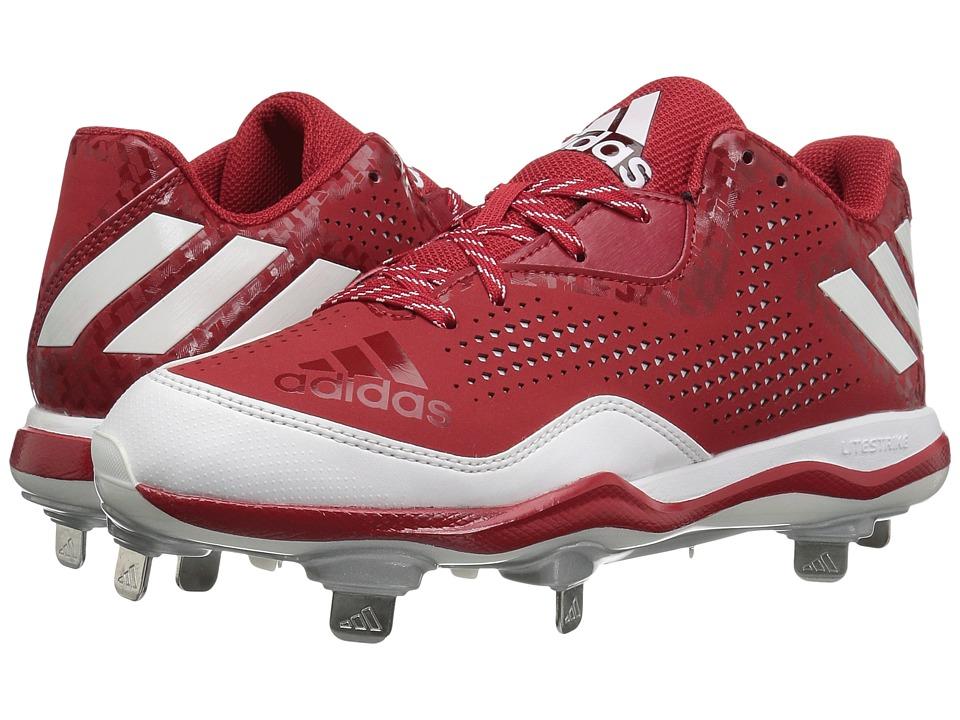 adidas - PowerAlley 4 (Power Red/White/Silver Metallic) Men's Shoes