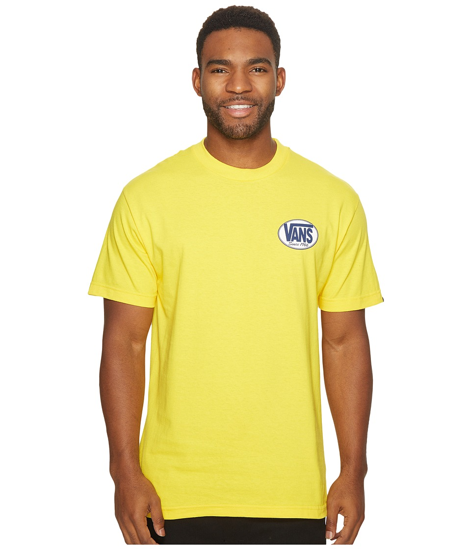 Vans - Oval Short Sleeve Tee (Yellow) Men's T Shirt