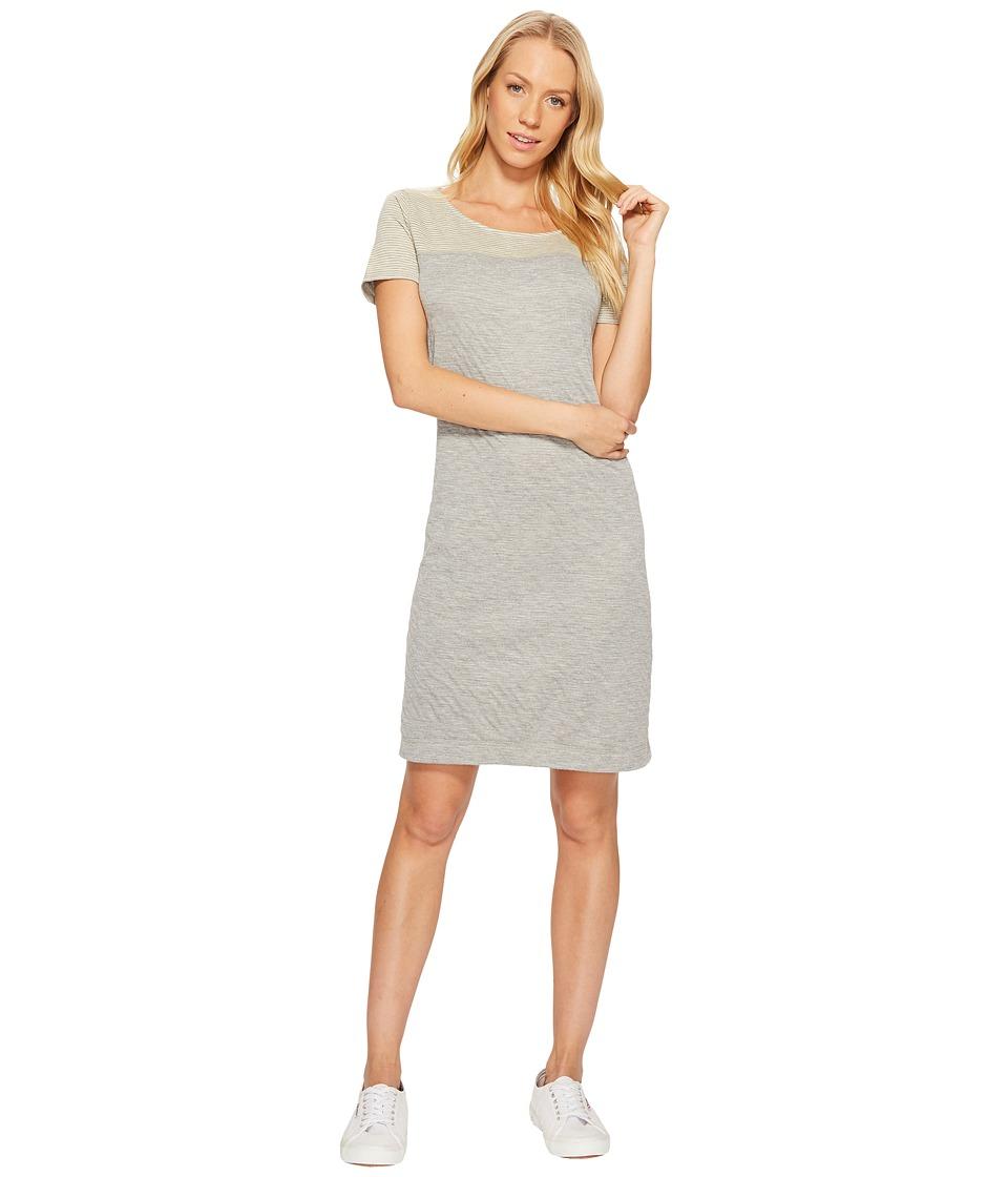 Three Dots Reversible Stripe/Dot Short Sleeve Shift (Cream) Women