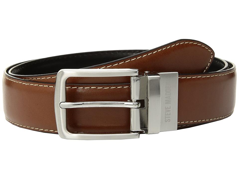 Steve Madden - 35mm Casual Reversible Belt (Cognac/Black) Men's Belts