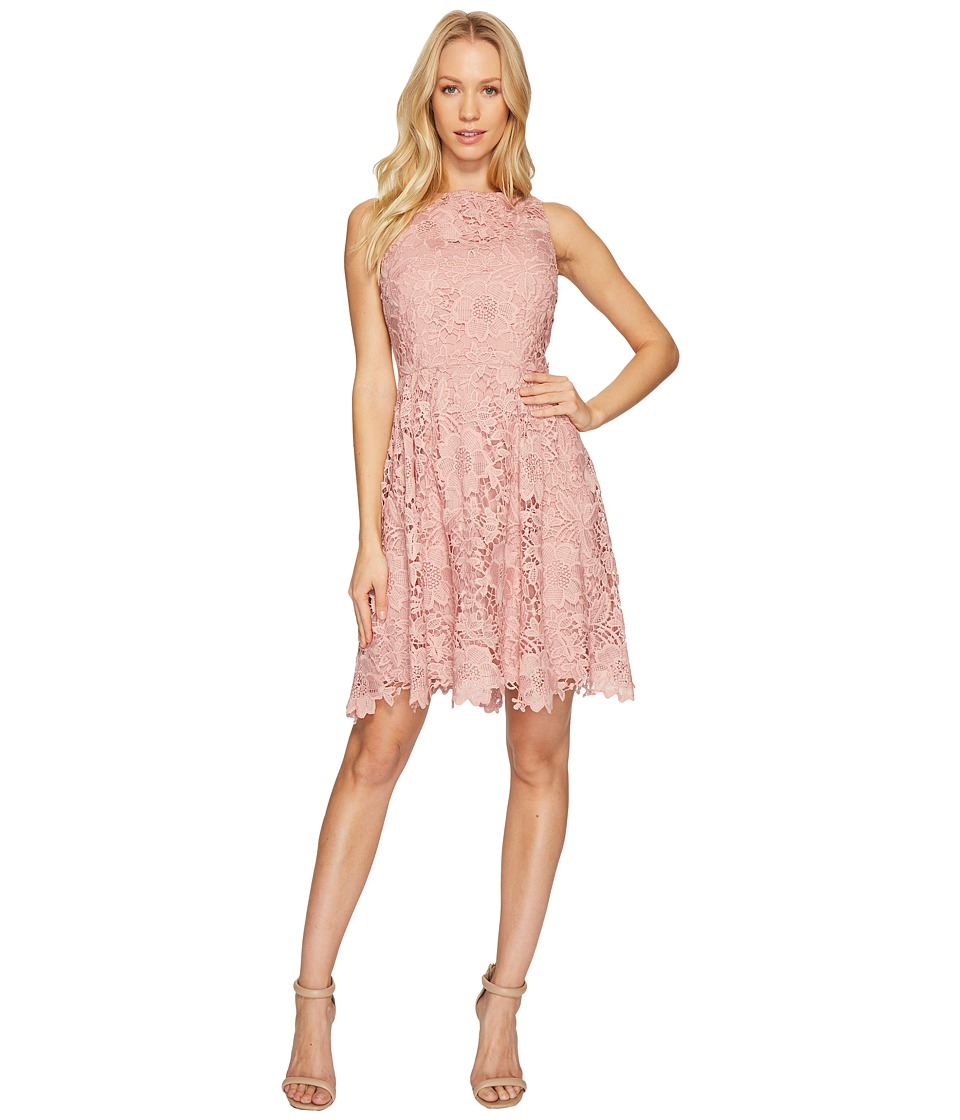 CeCe Claiborne Sleeveless Lace A-Line Dress