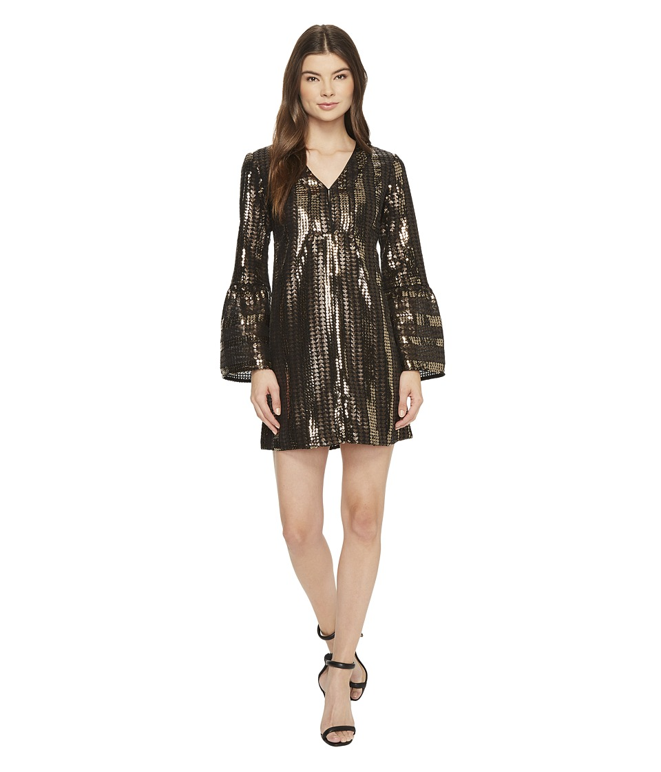 Nanette Lepore Lady Marmalade Mini Bronze Dress