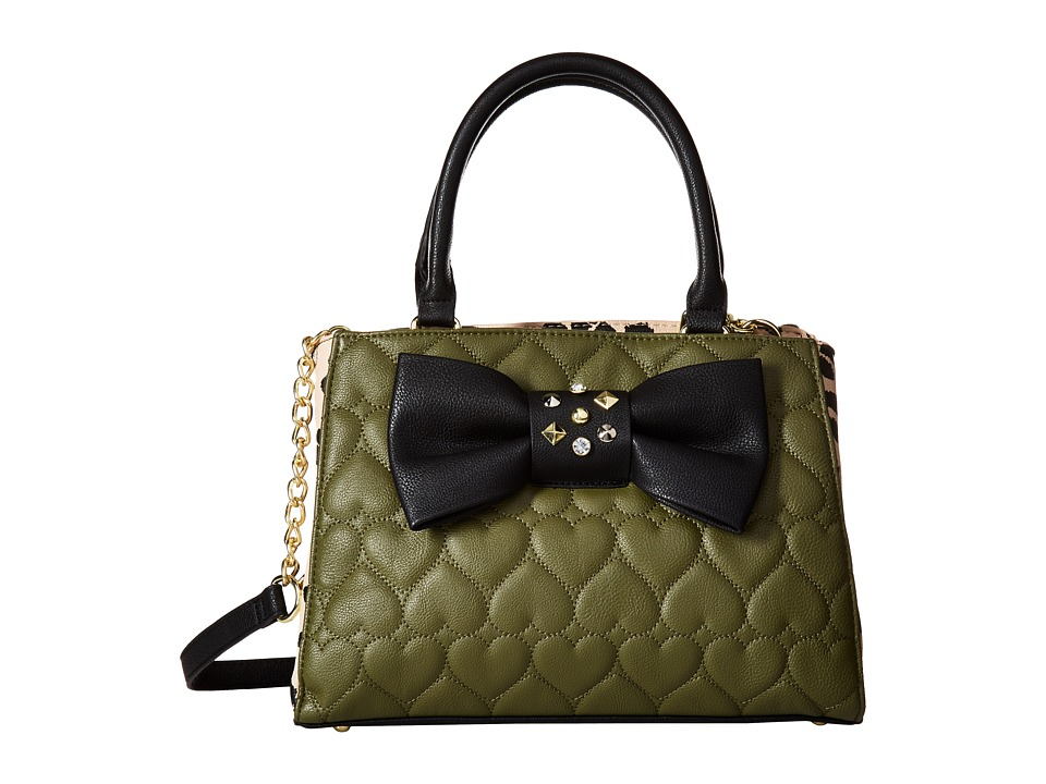 Betsey Johnson - Bow Bowler (Olive) Handbags