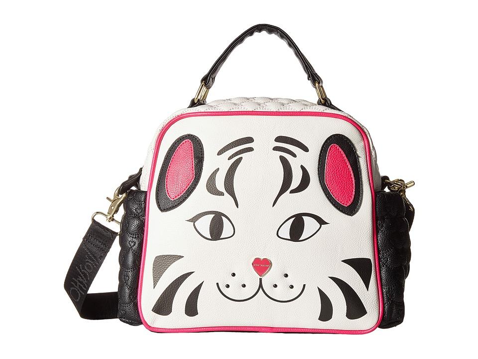 Betsey Johnson - Too Cute Panda Lunch Tote (Cream/Black) Tote Handbags