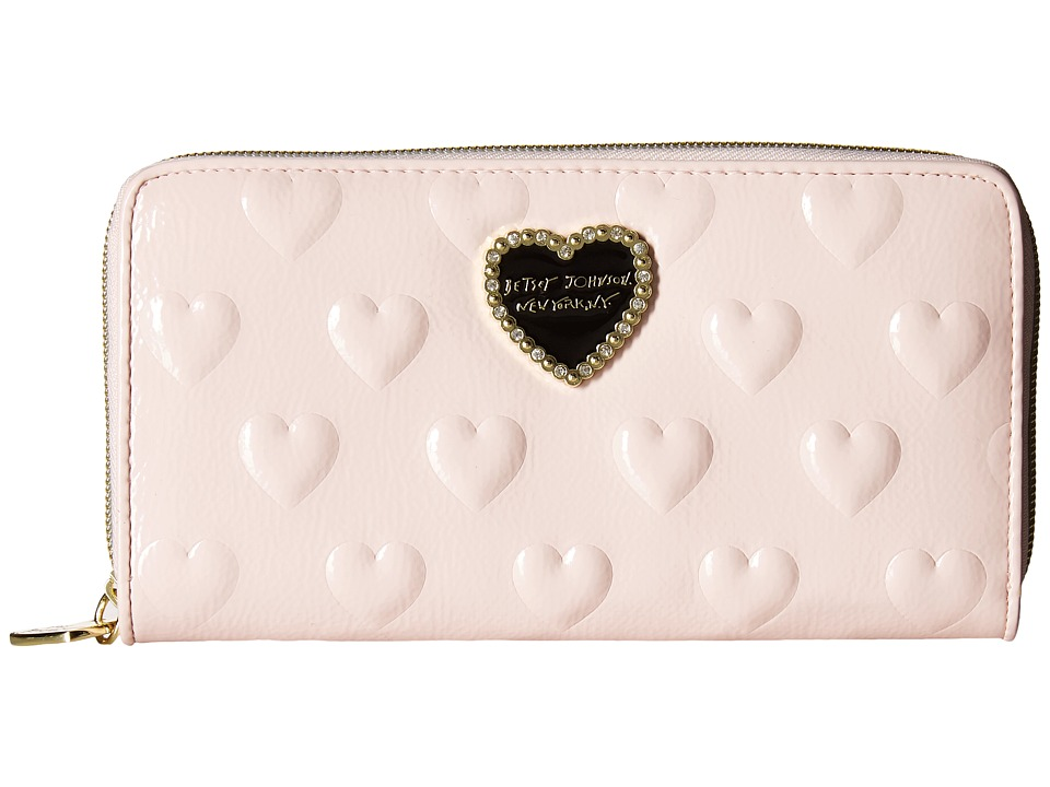Betsey Johnson - Large Bow Wallet (Blush) Wallet Handbags