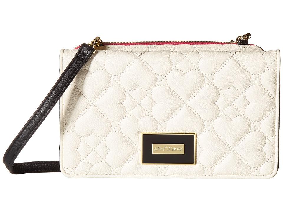Betsey Johnson - Bow Wos Crossbody (Cream/Black) Cross Body Handbags