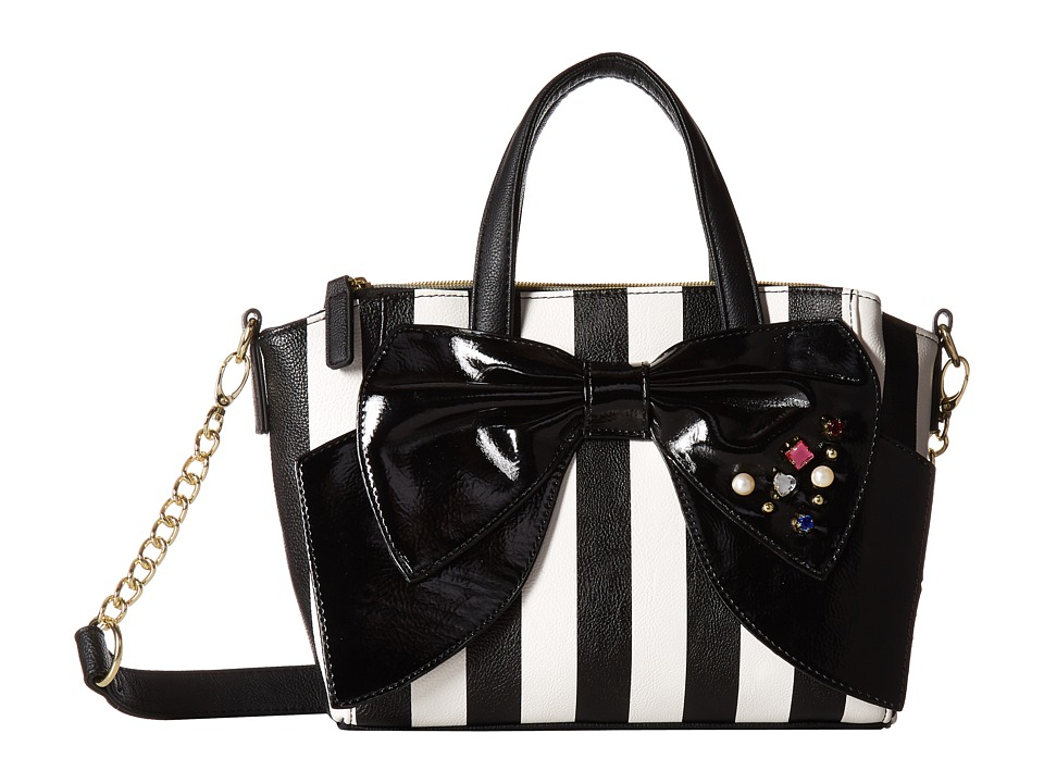 Betsey Johnson - Double Zip Satchel (Stripe) Handbags