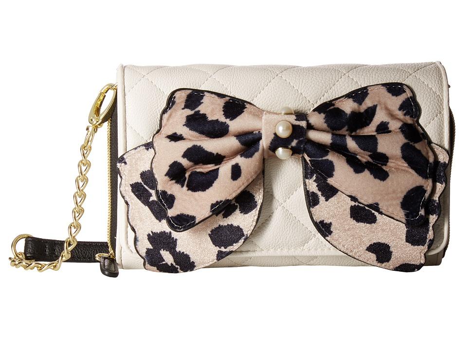 Betsey Johnson - Bow Crossbody (Sand) Cross Body Handbags