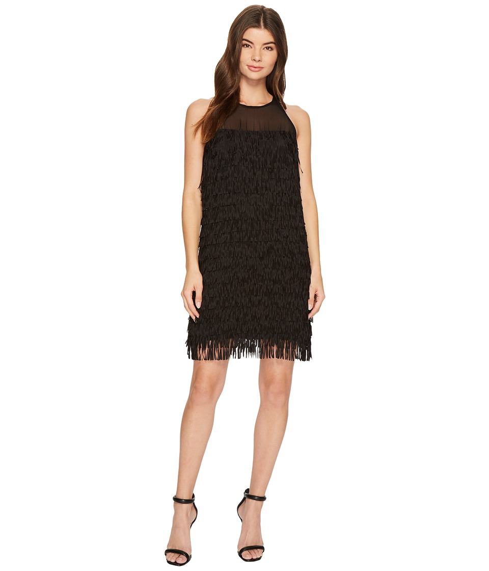 Aidan Mattox Fringe Trapeze Dress