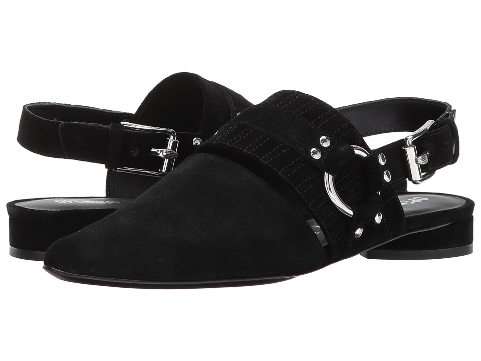 Opening Ceremony Alexx Suede Harness Flat (Black Suede) Women