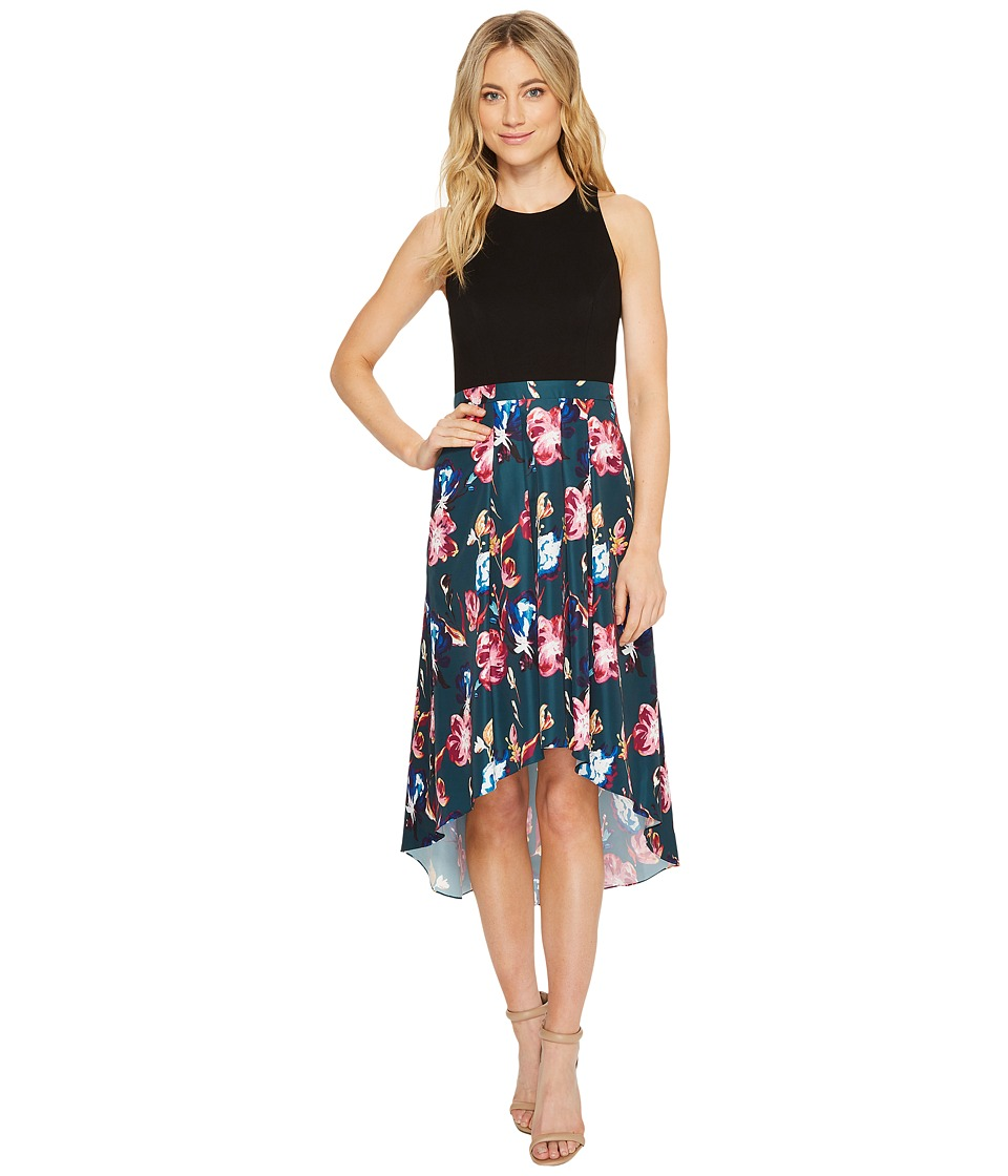 Aidan Mattox Printed Taffeta Cocktail Pink Multi Dress