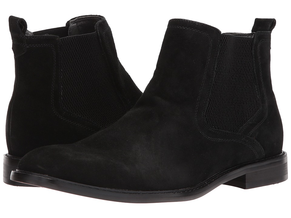 Steve Madden - Aziz-S (Black Suede) Men's Shoes