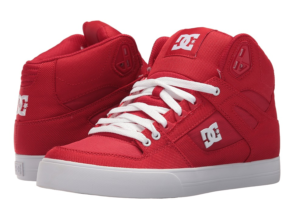DC Pure High-Top WC TX LE (Red/White) Men