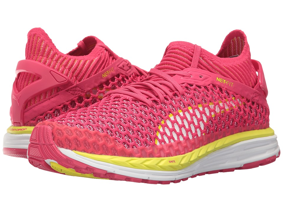 PUMA - Speed Ignite Netfit (Sparkling Cosmo/Nrgy Yellow/Puma White) Women's Shoes