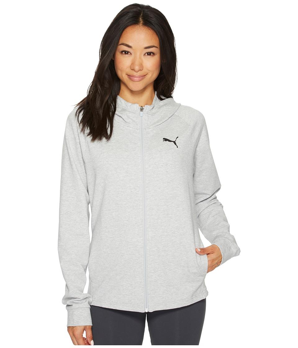 PUMA Urban Sports Full Zip Hoodie Training (Light Gray Heather) Women