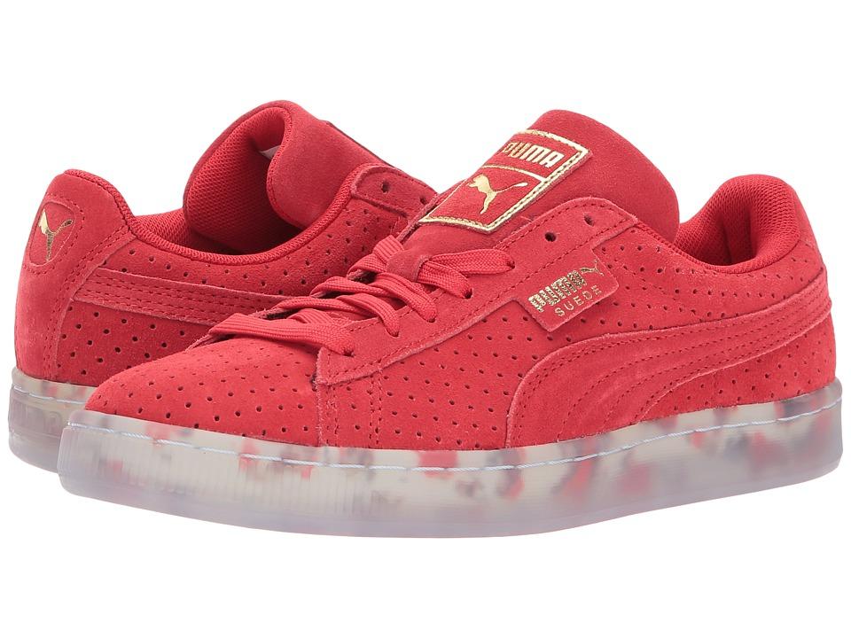 PUMA - Suede Classic V2 Perf (High Risk Red/Puma White) Women's Shoes