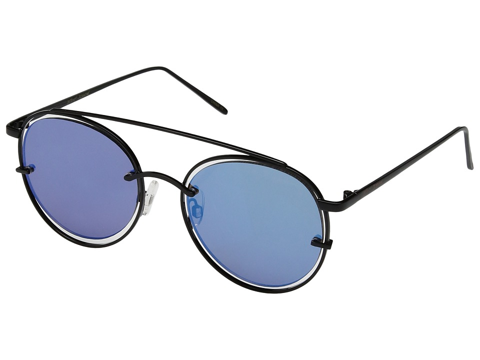 Betsey Johnson - BJ485107 (Black/Blue) Fashion Sunglasses
