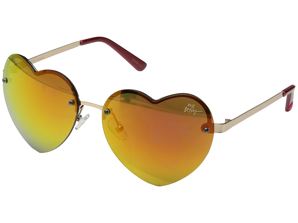Betsey Johnson - BJ475121 (Gold/Red) Fashion Sunglasses