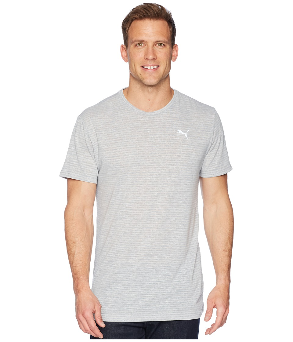 PUMA Dri-Release Graphic Tee (Light Gray Heather) Men's T Shirt