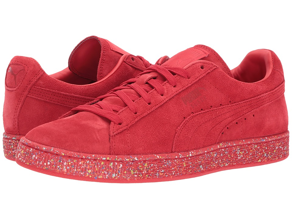 PUMA - Suede Classic Multi Splatter (High Risk Red) Men's Lace up casual Shoes