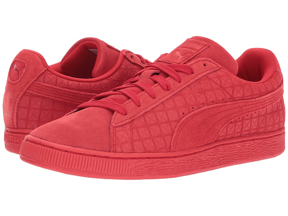 PUMA - Suede On Suede (High Risk Red/White) Men's Shoes