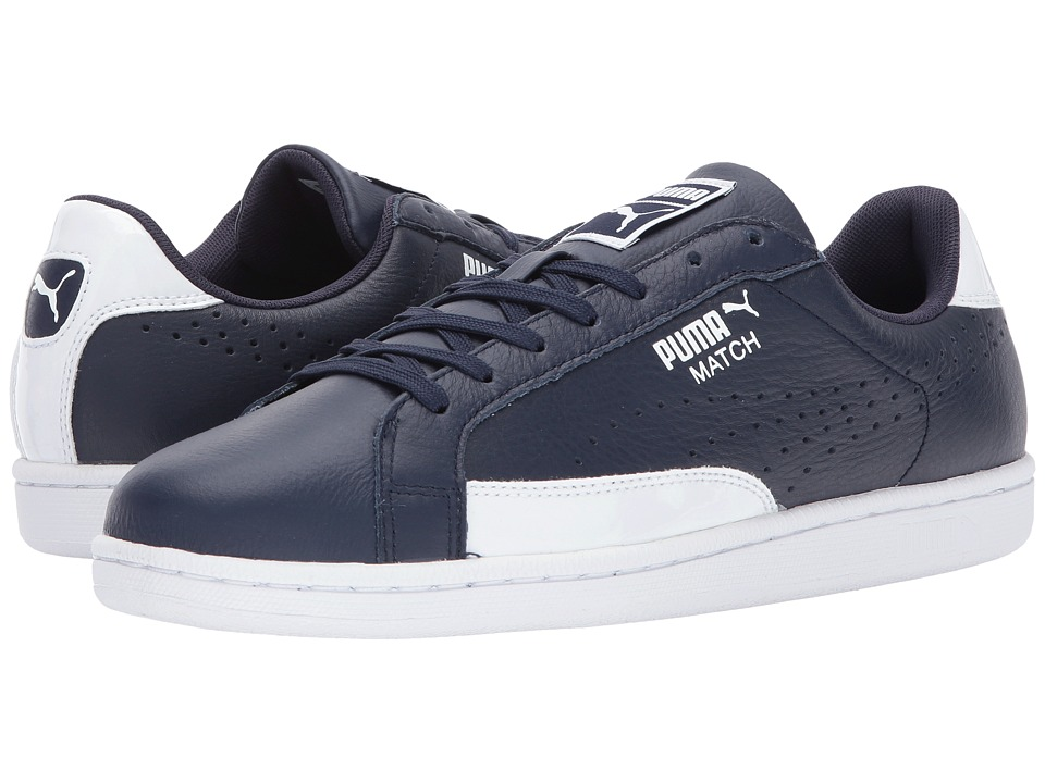 PUMA - Match TL Patent (Peacoat/White) Men's Shoes