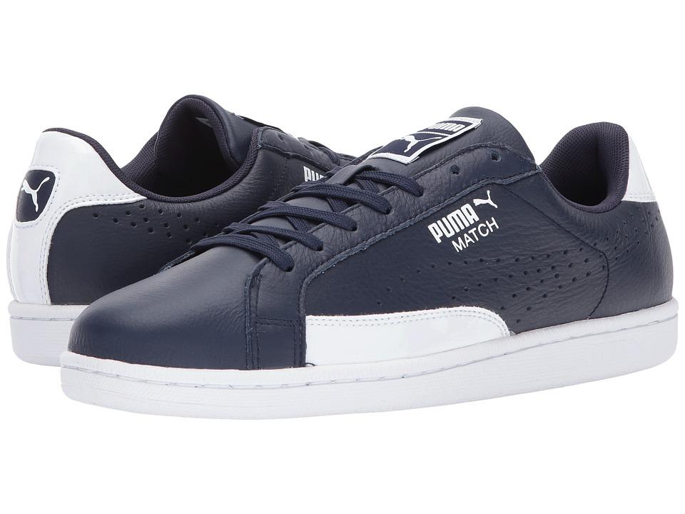 PUMA - Match TL Patent (Peacoat/White) Men's Shoes