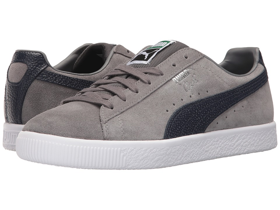 PUMA - Clyde BC (Steel Gray/Peacoat) Men's Shoes