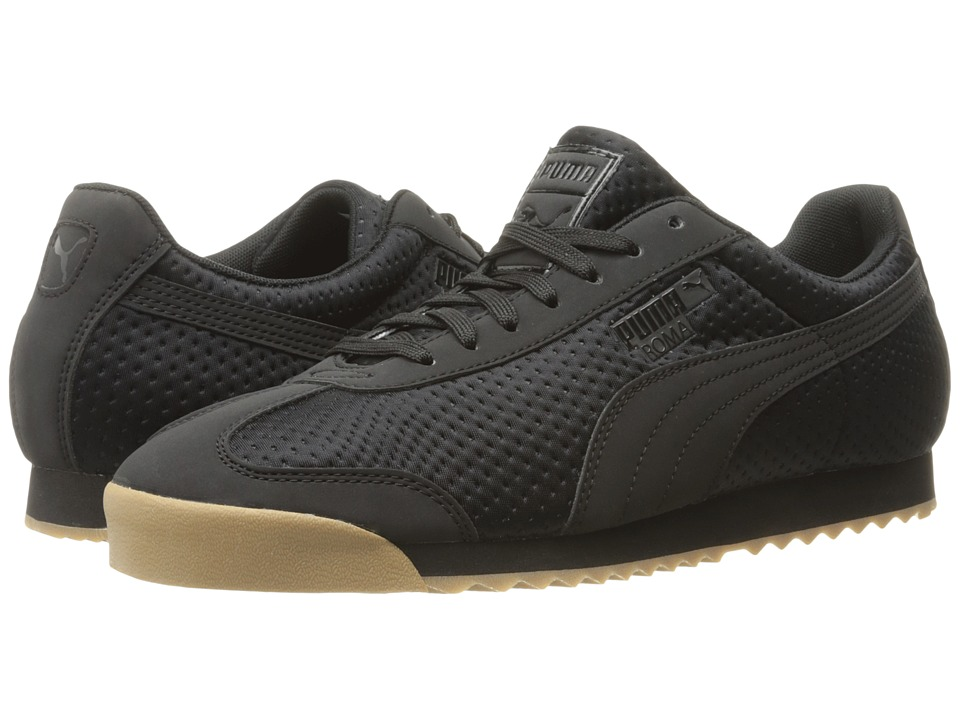 PUMA - Roma Triemboss (PUMA Black) Men's Shoes